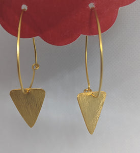 Gold PlatedTriangle Hoop