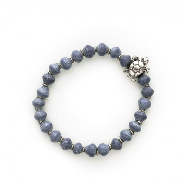 Turtle Charm Bracelet in Lagoon Blue