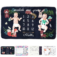 Load image into Gallery viewer, Baby's Mark Monthly Milestone Blanket - Baby's Mark