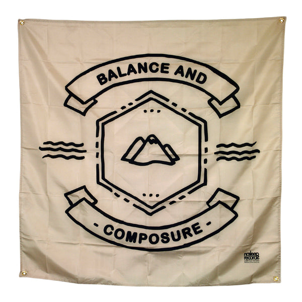 Balance And Composure Mountain Logo Natural