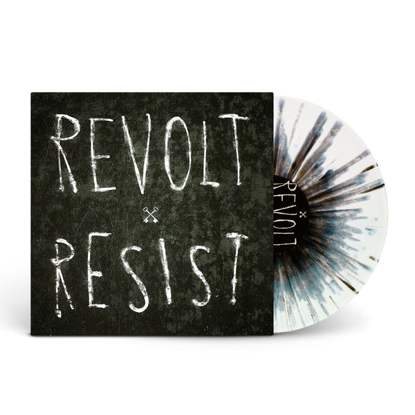 Hundredth Revolt/Resist White W/ Black Splatter