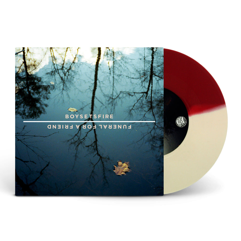 Split Half Opaque Maroon / Half Opaque Cream Vinyl 7""