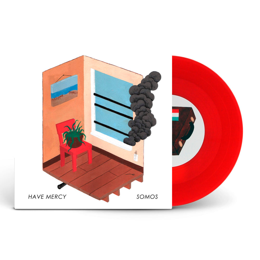 Have Mercy/Somos Split Orange And Red Swirl 7""
