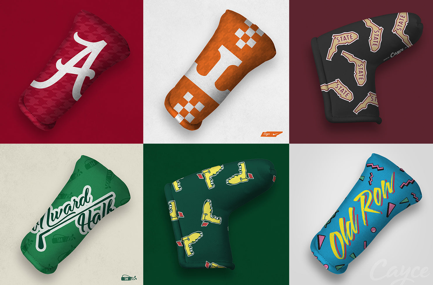 Custom Putter Cover Examples from Cayce