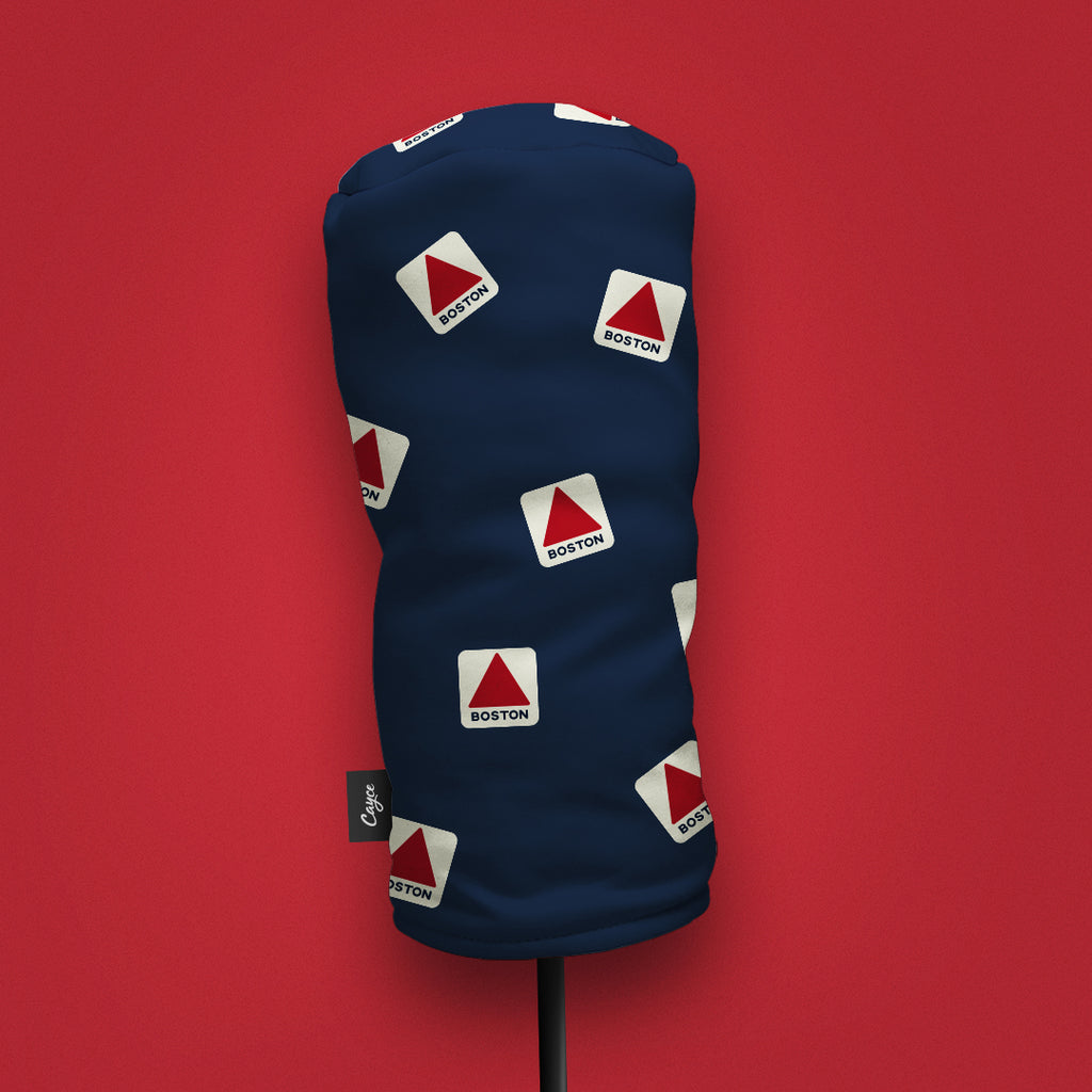 Cayce's rendition of Boston's Iconic Landmark, the Citgo Sign dancing on a golf headcover (4121380945999)
