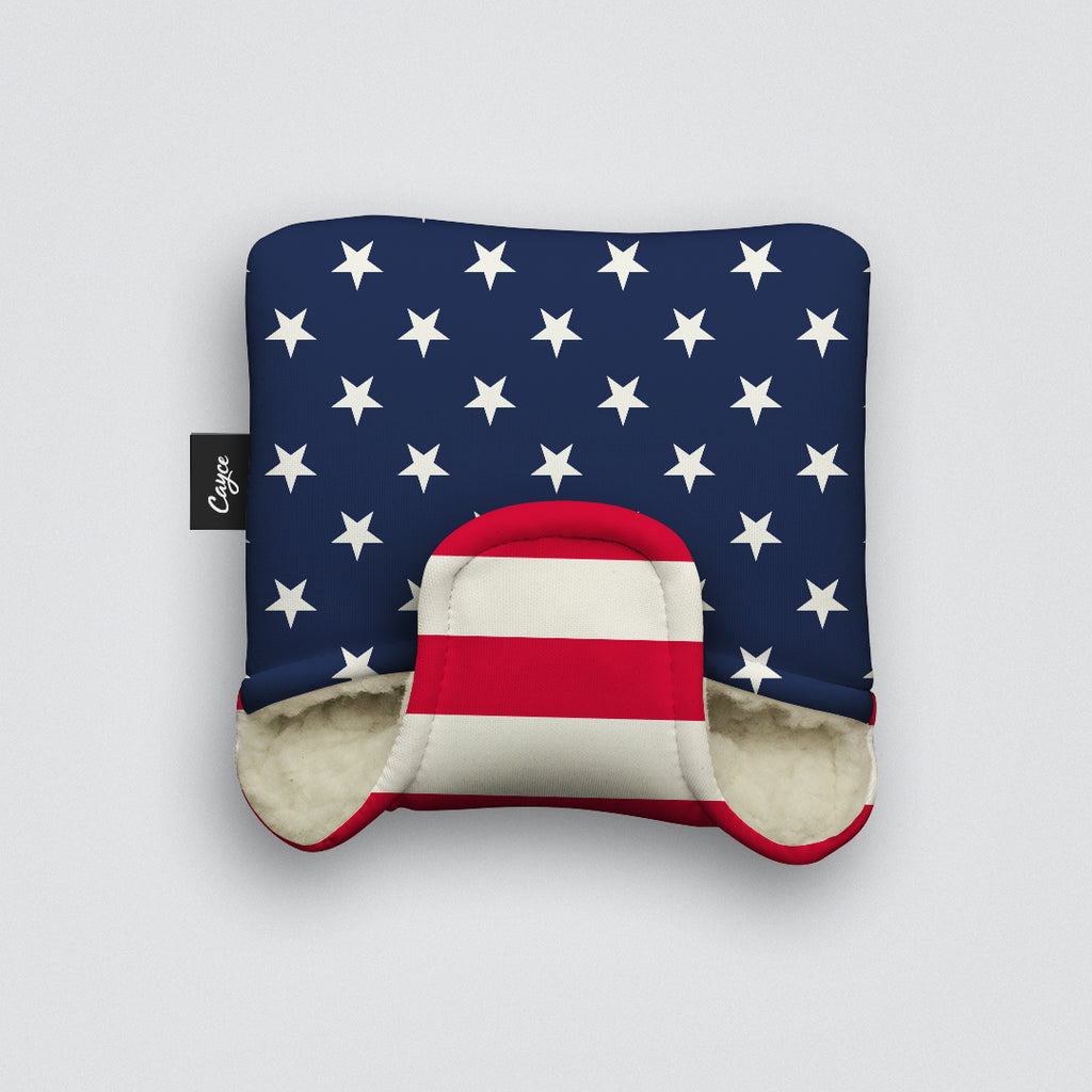 USA Mallet Putter Cover with a Stars and Stripes Design