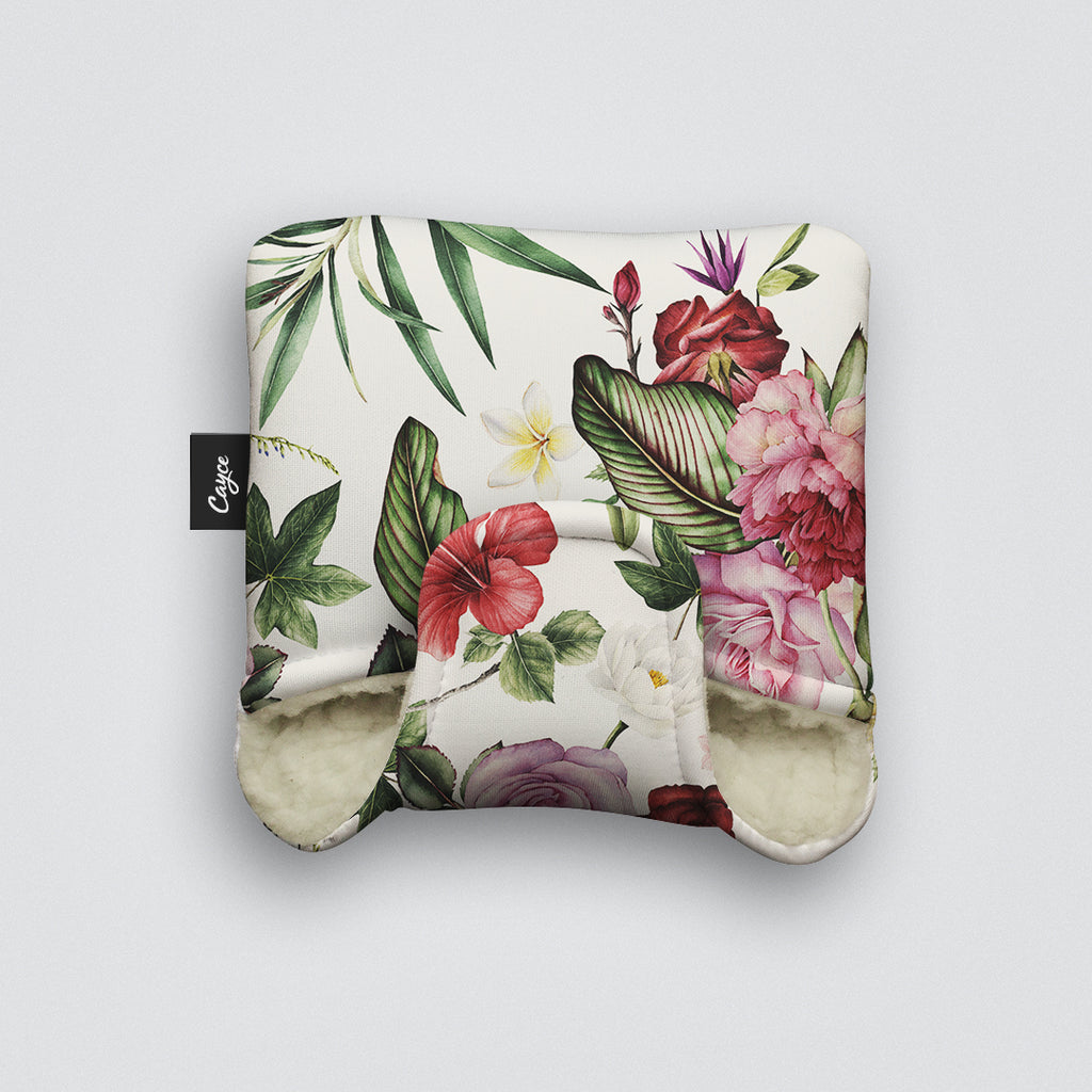 Mallet Putter Cover with a Floral Pattern