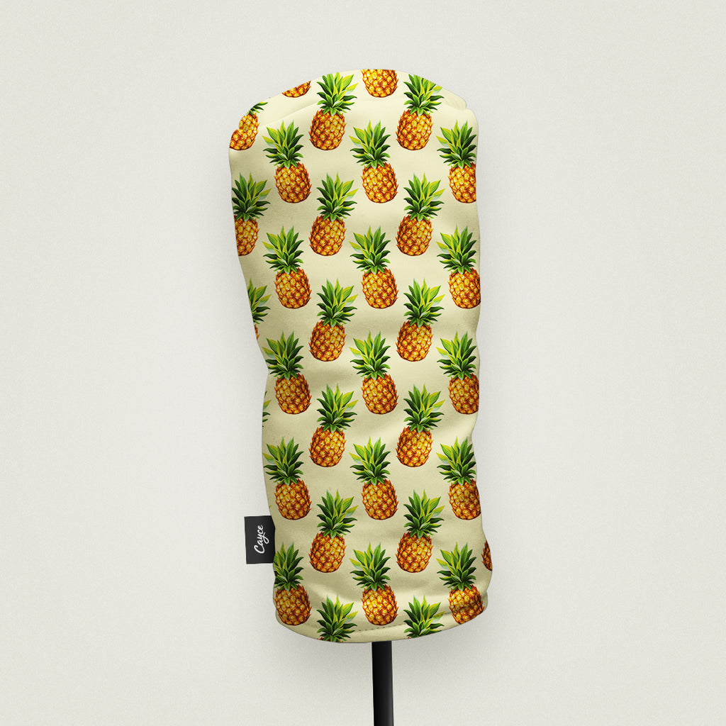Driver Headcover with a Pineapples Pattern, Made by Cayce in the USA (3691861246031)