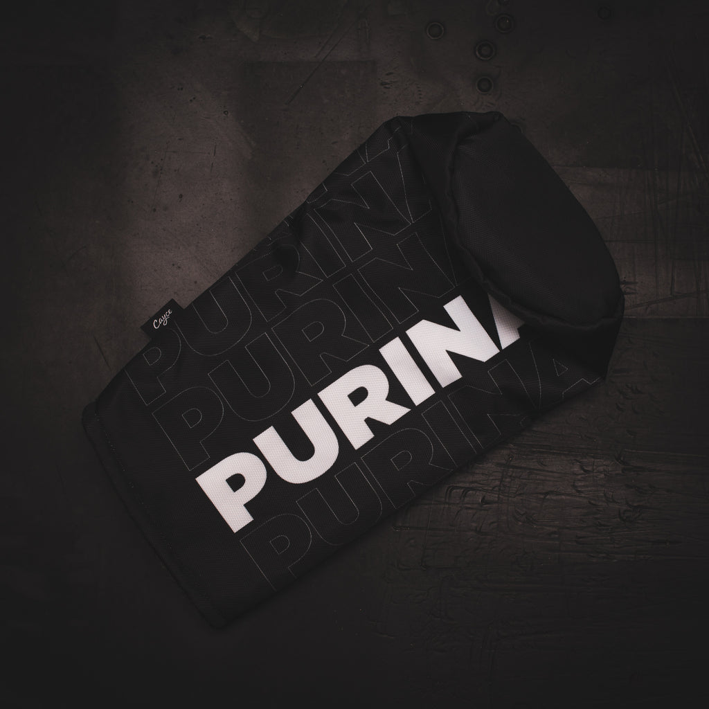 Black PURINA Driver headcover from Jake Hutt Golf
