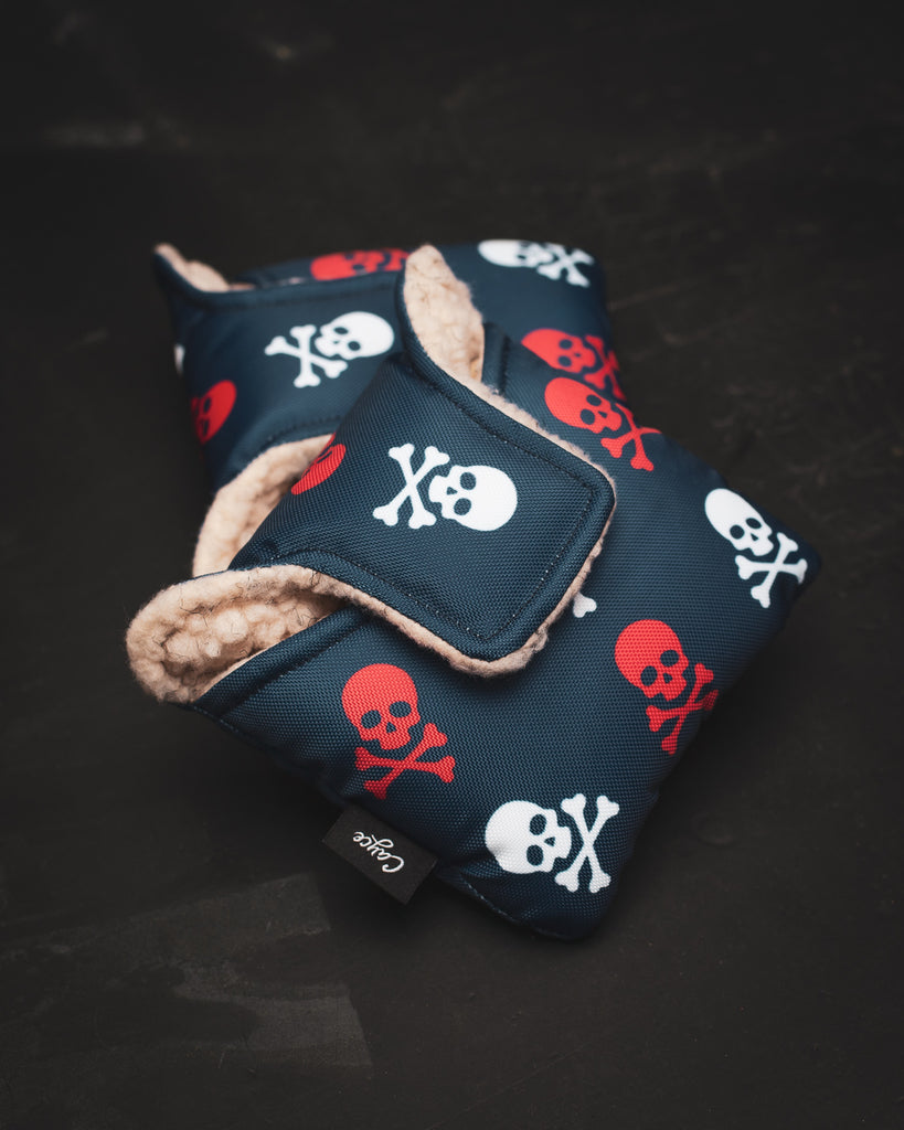 Skull and Crossbone Mallet Putter Cover