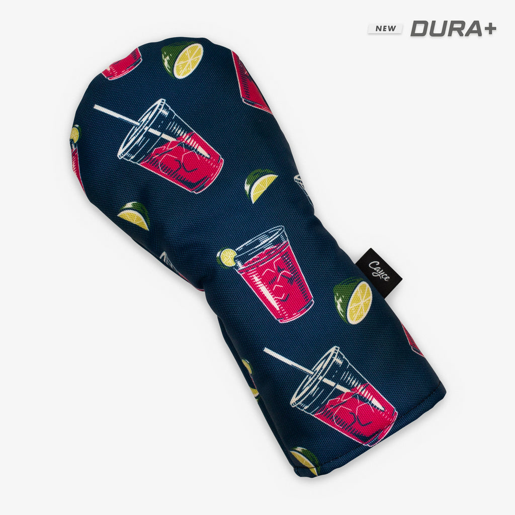 Transfusion hybrid headcover featuring dancing transfusions and limes