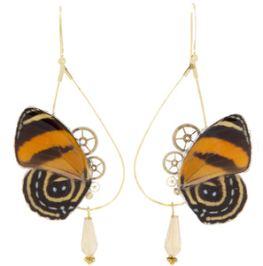 "Boucles d'oreille ""Danae"" - Cynosura Orange"