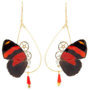 """Danae"" earrings - Cynosura Red"