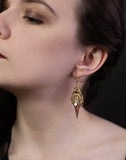 "Gold ""Mandragore"" earrings"