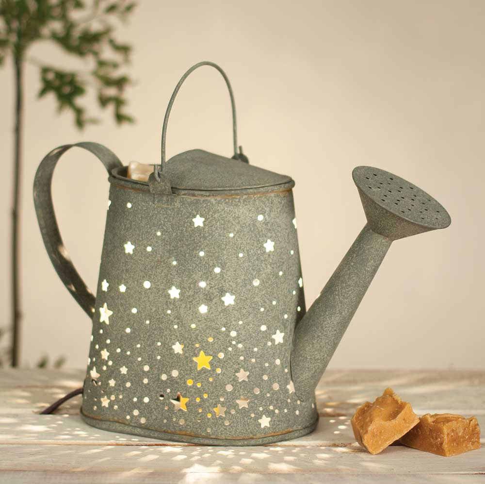 stars watering can wax warmer barn roof