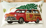 Wagoneer Christmas Pillow