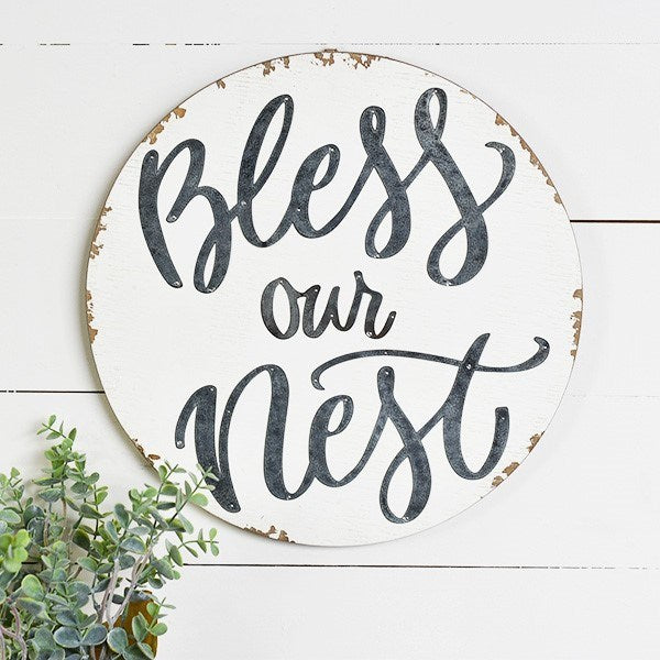 Bless our Nest Wall Sign