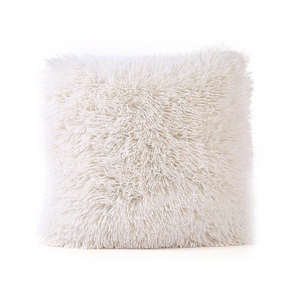 fluffy throw pillow cover