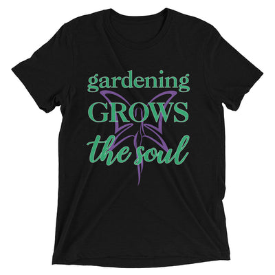 Gardening Grows The Soul Women's T-Shirt in black