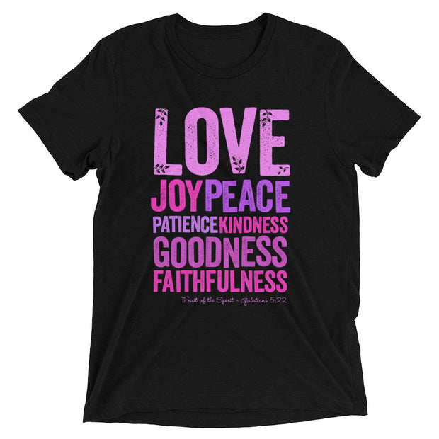 Love Joy Peace Womens T-Shirt in black