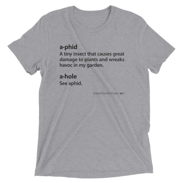A•phid / A•hole unisex T-Shirt in grey, humorous t-shirt for gardeners