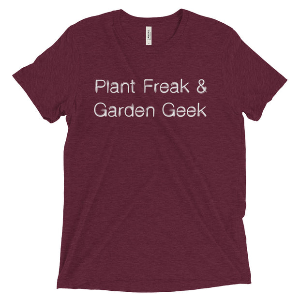 Plant Freak & Garden Geek T-Shirt in Maroon