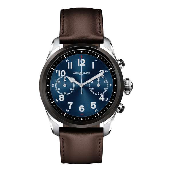 Montblanc Watch Summit 2 Stainless Steel and Black Bi-colour and Leather MB119439