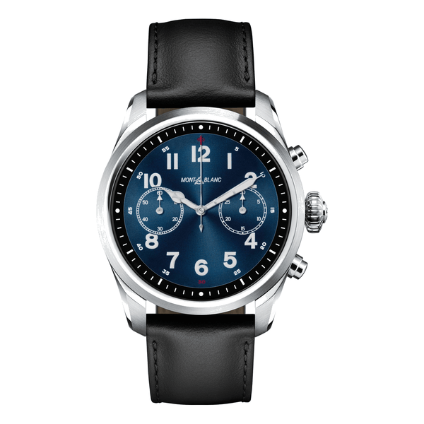 Montblanc Watch Summit 2 Stainless Steel and Leather MB119440
