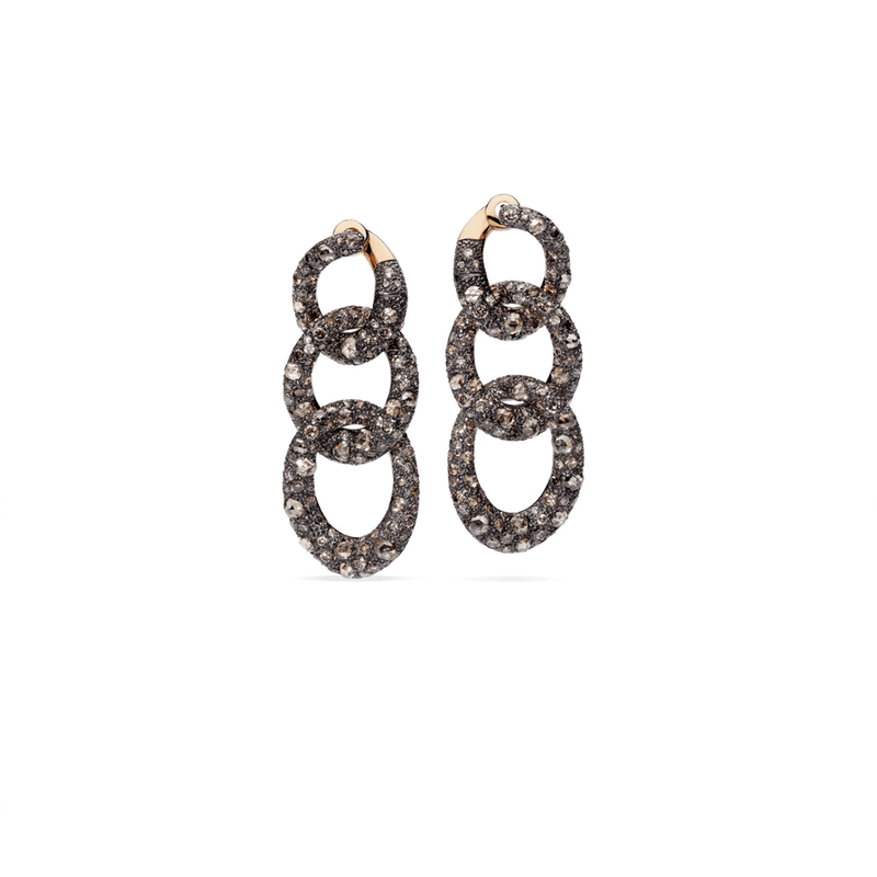 Pomellato Jewellery Earrings Tango POB2120_OADRK_DBR00