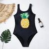 Pineapple Shine Ribbed One Piece Swimsuit