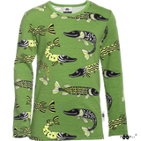 Longsleeve NOOA shirt Pike forest-apple 128 t/m 164 – Paapii Design