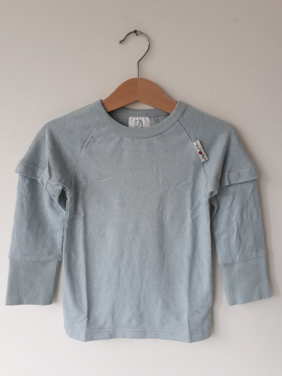 ECO Hempies Long/short sleeve top ( T-shirt / Longsleeve ) Silver Blue - ManyMonth MaMidea