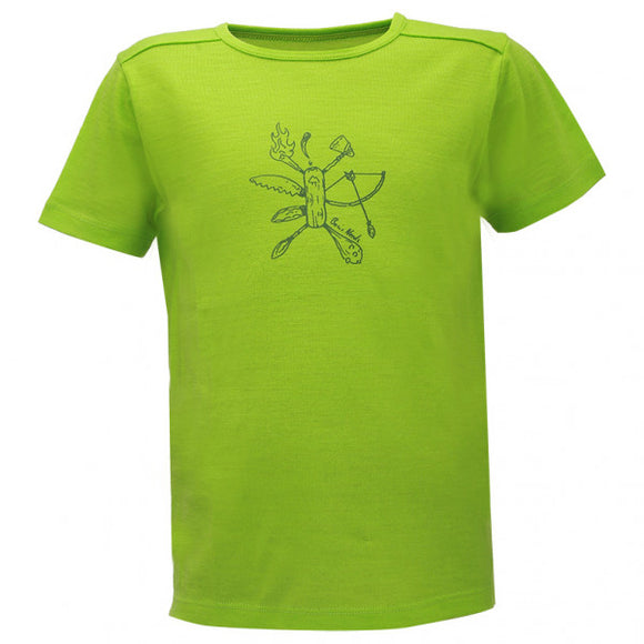 T-shirt Merino / Modal Kid's TeckbergBF Lime green - 2117 of Sweden