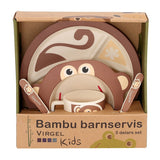 Bamboe kinderservies aap 5 delig – Virgel Technology