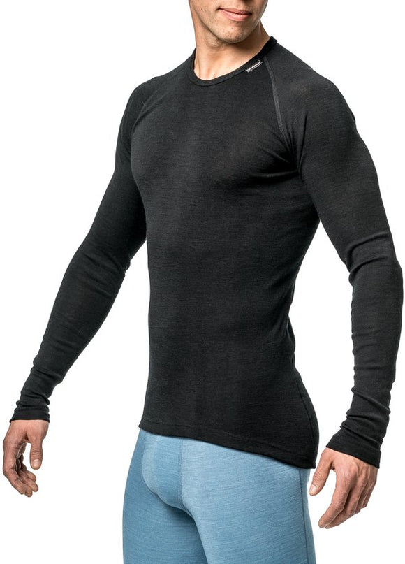 Thermo crewneck Lite Unisex Black – Woolpower