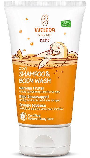 Kids 2in1 Shampoo & Body Wash Blije Sinaasappel – Weleda