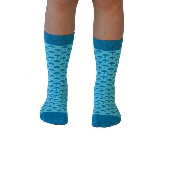 Sjöström lt blue kindersokken - Organic socks of Sweden