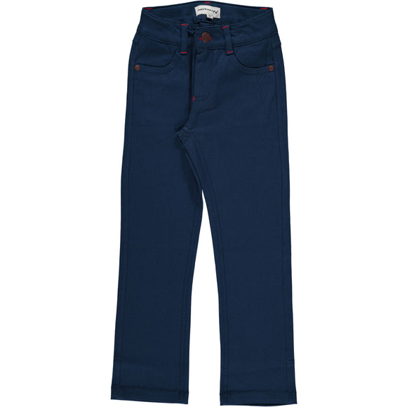 Maxomorra broek Dark Blue effen