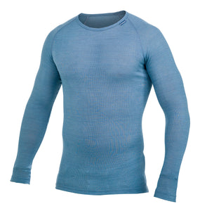 Thermo crewneck Lite Unisex Nordic Blue – Woolpower