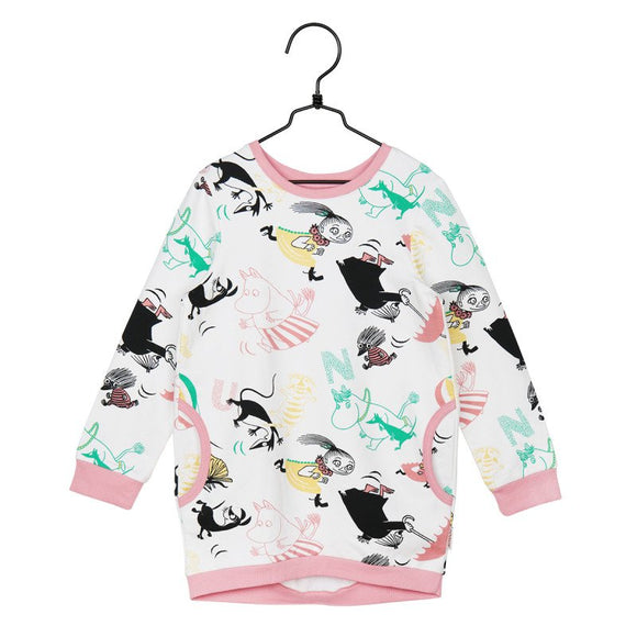 Tuniek / Butterfly Sweat Tunic Off-white – Moomin