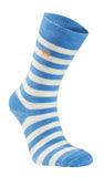 Thin Wool Sock Stripe (90 % merinowol) ice blue – Ivanhoe of Sweden