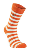 Thin Wool Sock Stripe (90 % merinowol) orange – Ivanhoe of Sweden