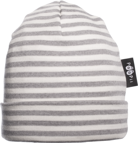 Muts Beanie merinowol grey natural white – Paapii Design