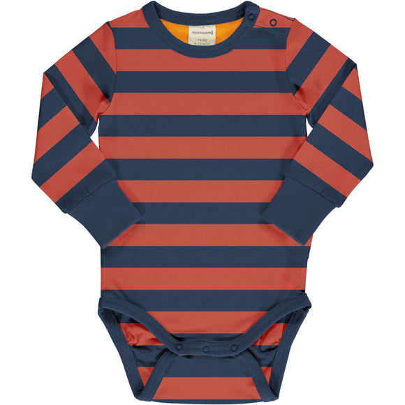 Body / romper LS Stripe Rowan - Maxomorra