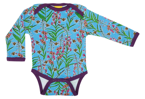 Romper / Long Sleeve Body Willowherb Blue - Duns Sweden