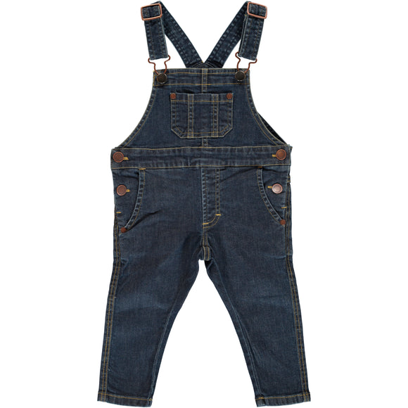 Tuinbroek / Playsuit / Dungarees Denim Medium Dark Wash - Maxomorra