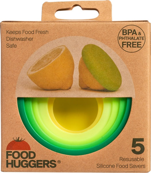 Food huggers 5 pieces Fresh Green - Foodhuggers