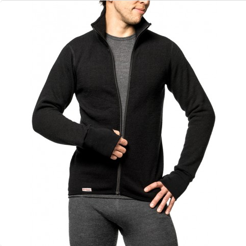 Vest / Full Zip Unisex Jacket 400 Black - Woolpower - Op bestelling