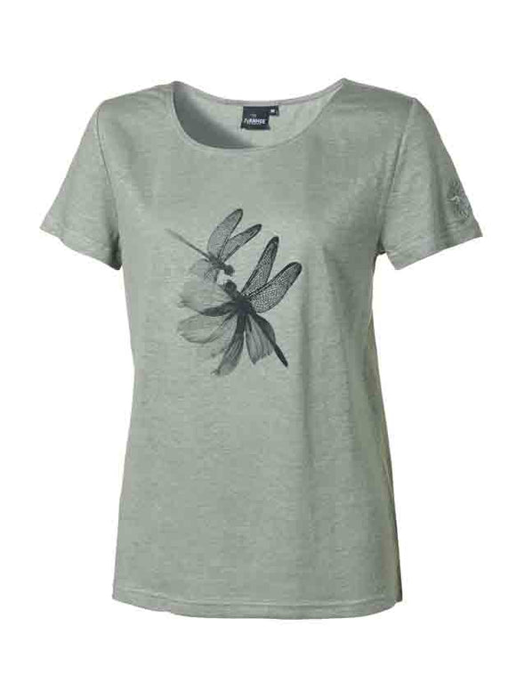Linnen T-shirt GY Leila Dragonfly Green Bay – Ivanhoe of Sweden