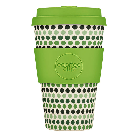 Koffie beker Light Green Polka 400 ml - Ecoffee Cup